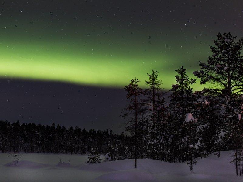 Norrskenstur på Snöskor